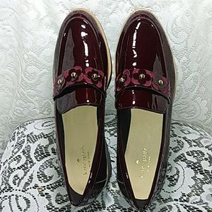 Katte Spade New York (Burgundy) patent Leather Loa